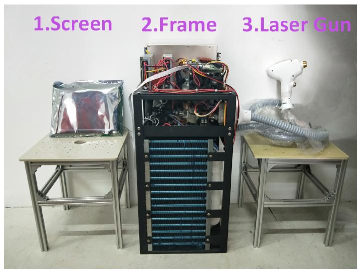diodelaser hair removal machine frame