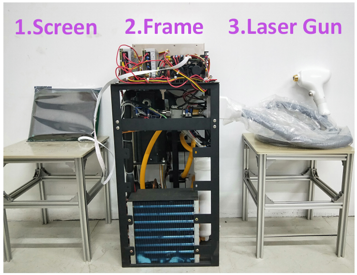 300W compressor diode laser hair removal machine frame