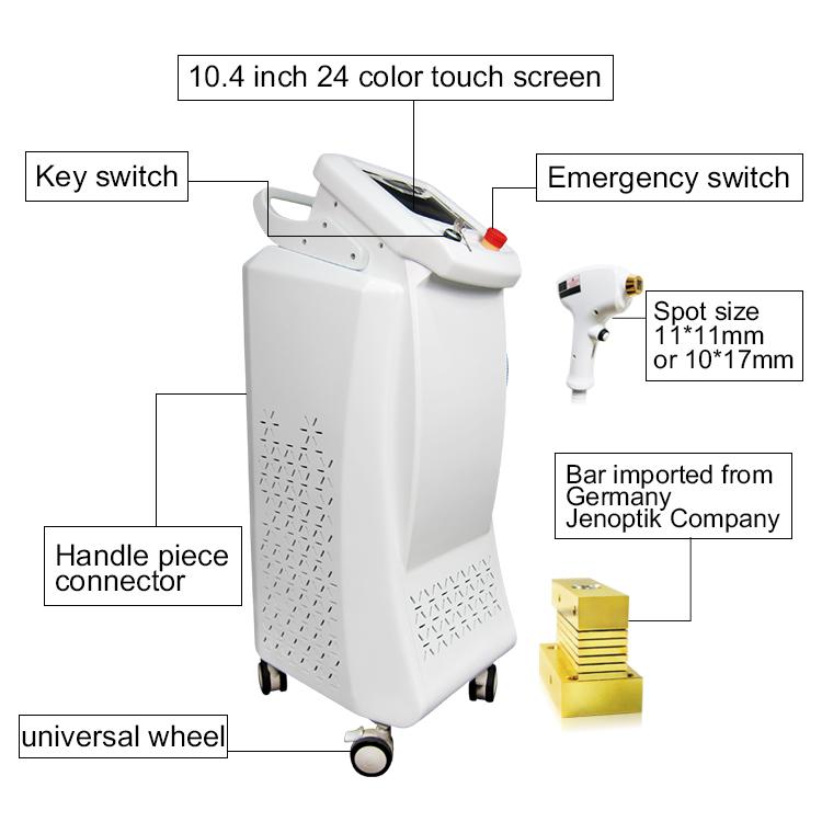 808nm diode laser epilation system